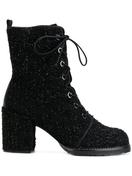 STUART WEITZMAN women lace leather black shoes