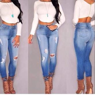top cropped long sleeves zipper