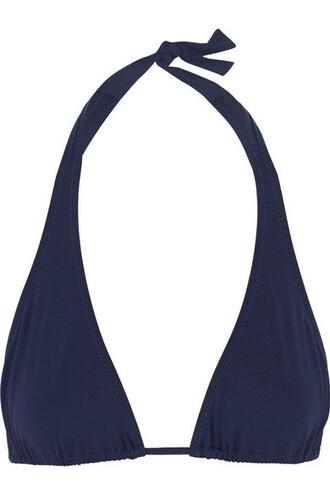 bikini bikini top triangle bikini triangle navy swimwear