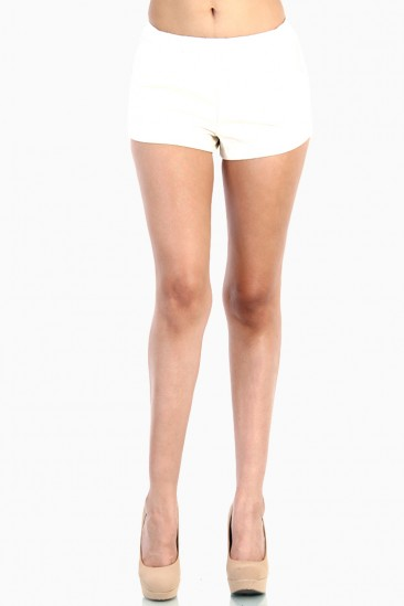 LoveMelrose.com From Harry & Molly | Leather Short Pants - White