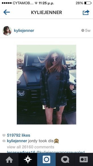 kylie jenner shirt jacket sunglasses