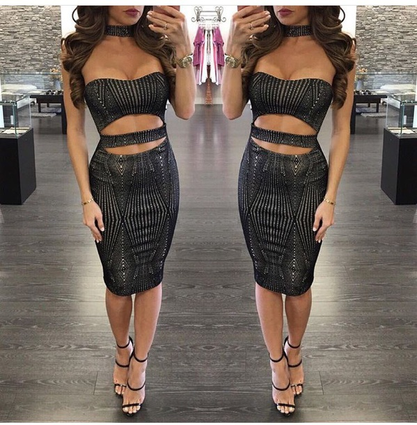 c97bc1527 dress date outfit cute outfits party outfits outfit outfit idea club dress  party dress black heels