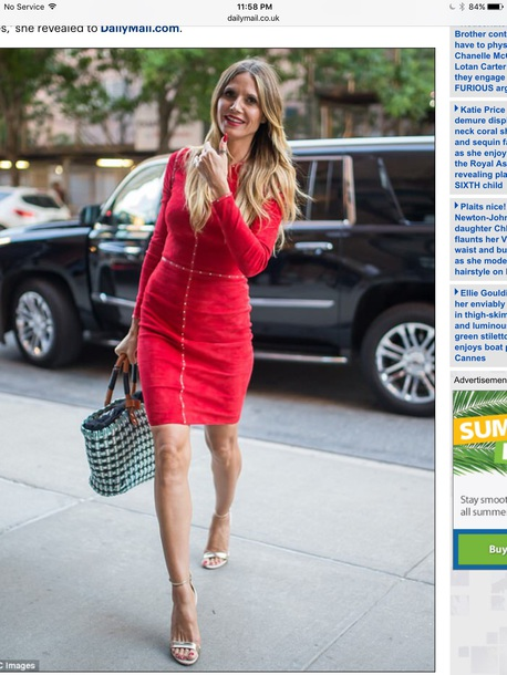 dress red dress celebrity heidi klum