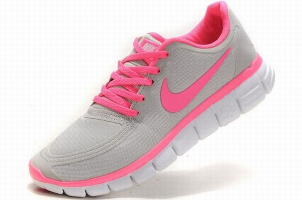 shoes nike free 5.0 v4 womens grey pink running shoes