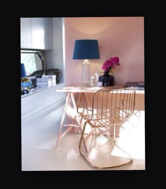 home accessory chair rose gold