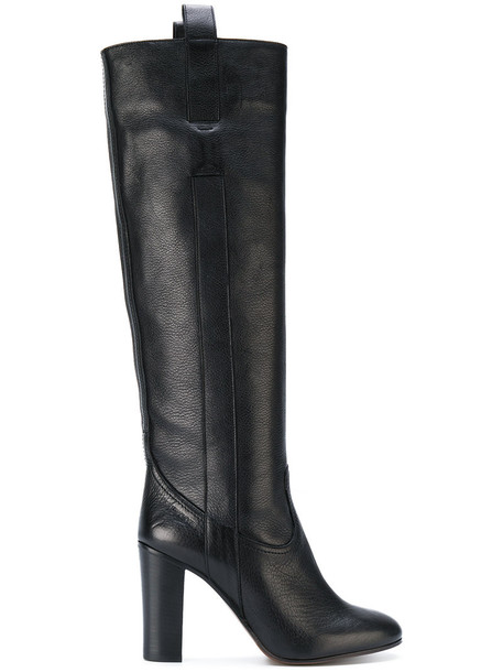 L'Autre Chose high women knee high knee high boots leather suede black shoes