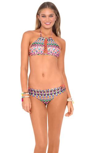 top 2016 halter top luli fama luxury triangle top multicolor bikini swimwear bikiniluxe