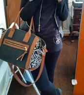bag,crossbody bag,black,brown,aztec,purse