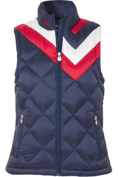 Perfect Moment vest quilted navy jacket