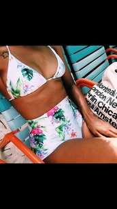 swimwear,tropical,flamingo,tropical swimwear