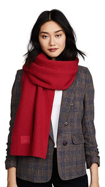 Acne Studios scarf red