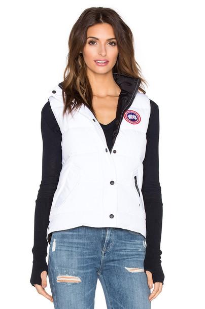 canada goose vest white