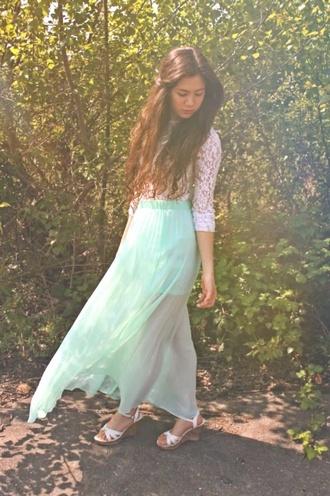 skirt maxi skirt mint skirt long skirt maxi dress lace top lace crop shirt crop top dress lace dress