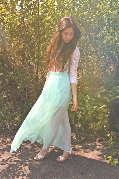 dress skirt lace dress crop tops mint skirt maxi skirt maxi dress lace top lace crop shirt