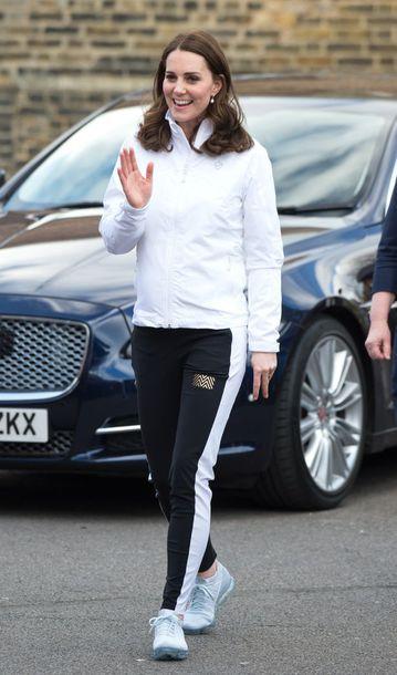 jacket sportswear kate middleton white white jacket sports jacket pants sports pants