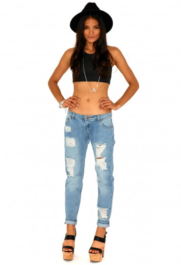 Dylan Ripped Boyfriend Jeans - jeans - missguided
