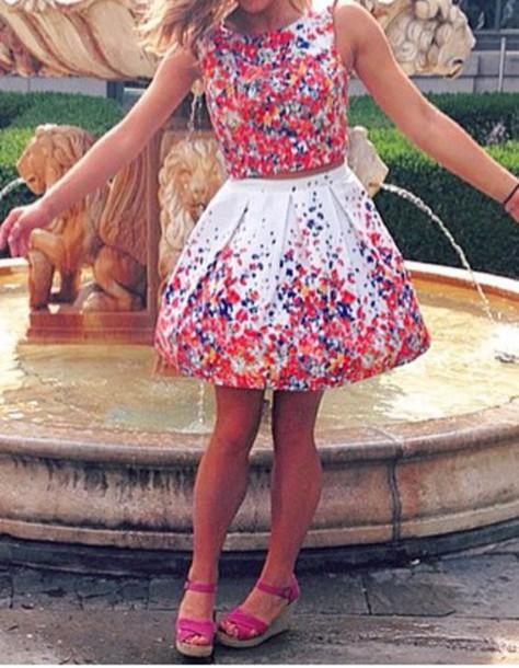 dress summer dress short dress patterned dress floral dress