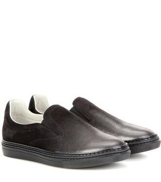metallic sneakers suede black shoes