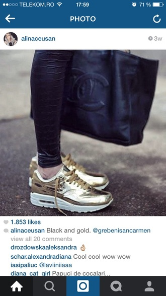 shoes gold air max