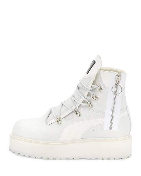 super popular 63958 beb66 Fenty Puma by Rihanna Leather Platform Sneaker Boot, White