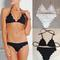 Women's clothing solid color triangle bikini