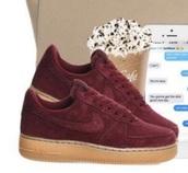 shoes,burgundy,nike sneakers