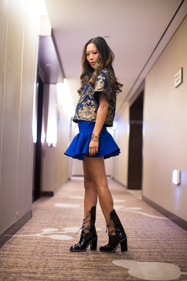 song of style t-shirt skirt jacket shoes jewels