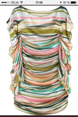 blouse stripes multicolor