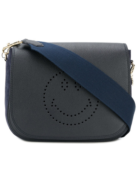 Anya Hindmarch women smiley bag shoulder bag blue