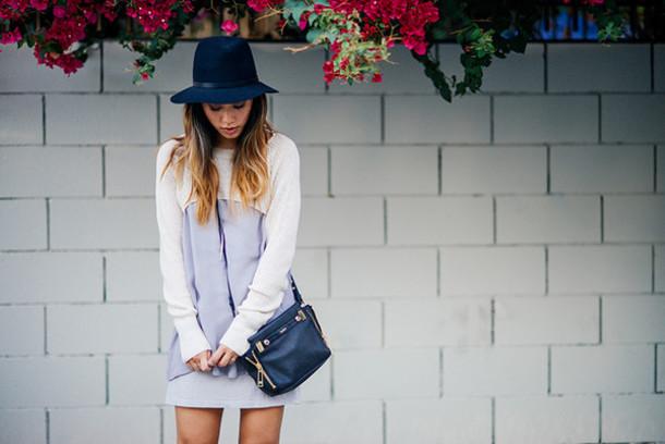 neon blush blogger bag jewels felt hat dress sweater hat shoes