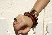 jewels,heart,fashion accessory,jewelry,fashion,bracelets,ring,milkmaids,bra,glass blown,stones,wood,gypsy,hippie,boho chic,traveler,milkthegoat