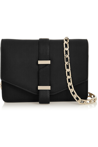 satchel mini leather black bag