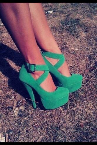 shoes green high heels green shoes high heels straps girly