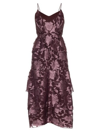 gown chiffon silk pink dress