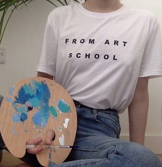 shirt art white indie alternativ statement beautiful original