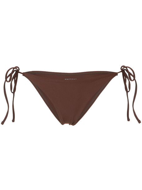 MATTEAU bikini bikini bottoms string bikini women spandex brown swimwear