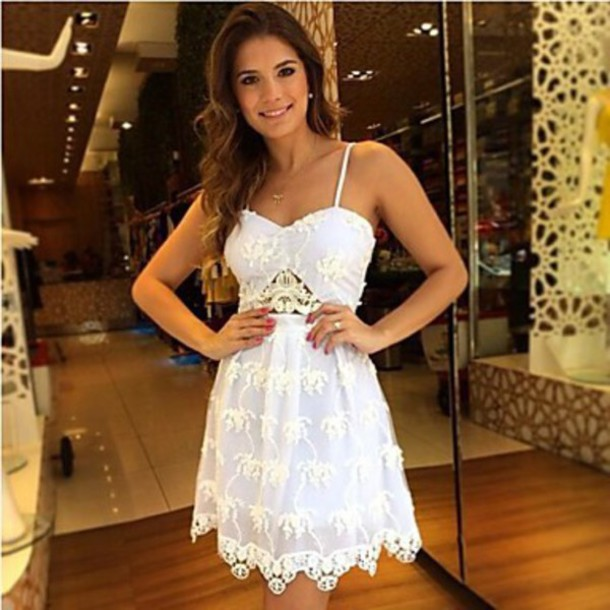 dress romantic dress white dress
