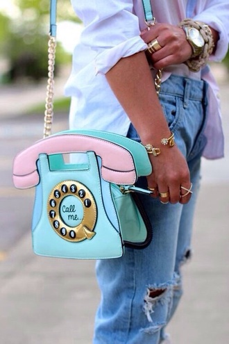 bag phone pastel colors