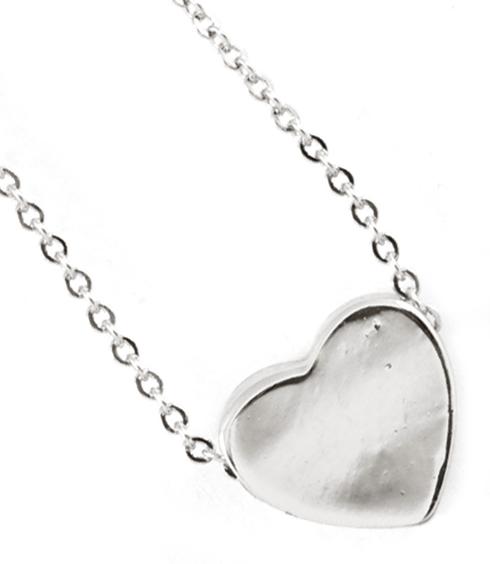 Tiny Heart Dainty Silver Necklace