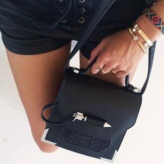 bag black bag cool ring hippie