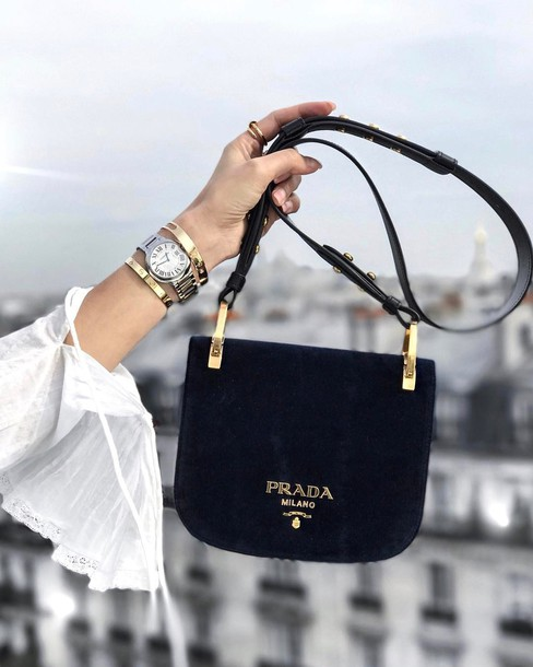 430c24b404b5 bag suede bracelets tumblr black bag suede bag prada prada bag gold  bracelet watch silver watch