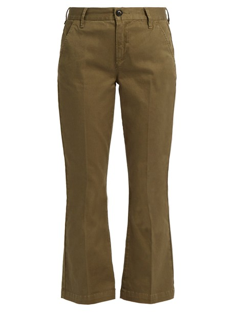 FRAME mini cotton khaki pants