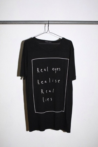 shirt cute baggy tshirt black