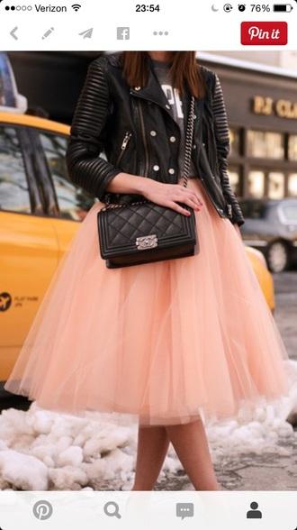 skirt pink skirt tulle skirt