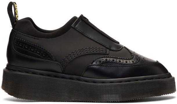 Dr. Martens zip oxfords black shoes