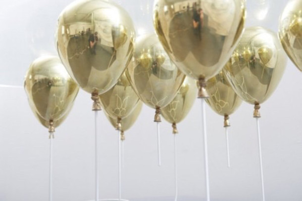 home accessory balloons party gold chrome birthday metallic home decor
