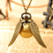 Vintage bronze punk steampunk quartz pocket watch necklace