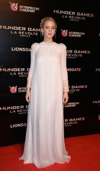 dress gown prom dress maxi dress jennifer lawrence the hunger games dior shoes