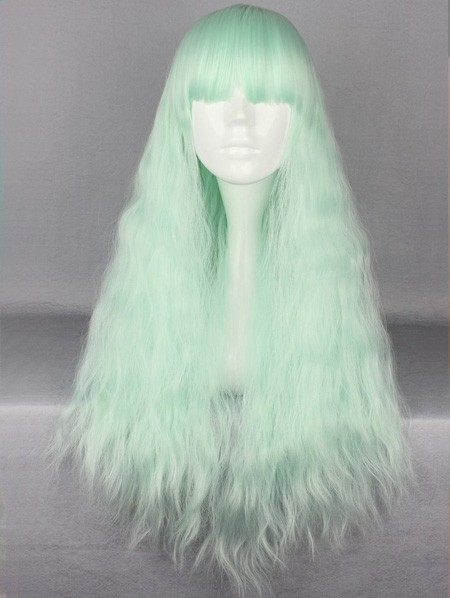 Ice green rhapsody wig