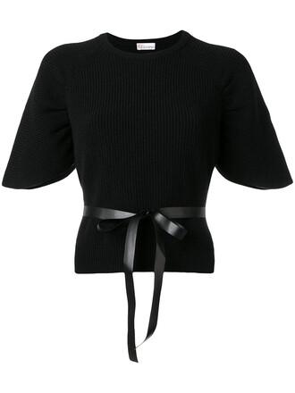 top women cotton black wool